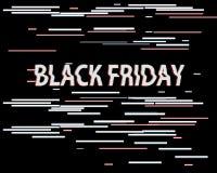 Ejemplo de la venta de la interferencia del vector Fondo de la interferencia del arte, información negra de viernes de la venta N Imágenes de archivo libres de regalías