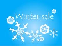 Ejemplo de la venta del invierno Fotos de archivo libres de regalías