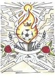Ejemplo de la victoria de la taza del fútbol Foto de archivo libre de regalías