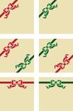 Ejemplo de las cintas stock de ilustración