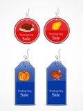Ejemplo de las etiquetas de la venta para la acción de gracias Fotos de archivo libres de regalías