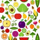 Ejemplo de las frutas planas del diseño y Foto de archivo libre de regalías