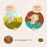 Ejemplo de las historias del perrito del vector Imagen de archivo libre de regalías