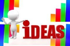ejemplo de las ideas del hombre 3d Imagenes de archivo