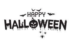Ejemplo de las letras del feliz Halloween libre illustration
