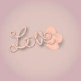 Ejemplo de las salchichas del amor Imágenes de archivo libres de regalías