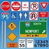 Ejemplo de las señales de tráfico Imagen de archivo libre de regalías