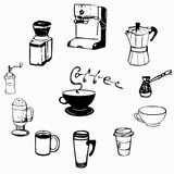 Ejemplo de las tazas de café Fotografía de archivo libre de regalías