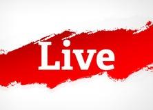 Ejemplo de Live Red Brush Abstract Background stock de ilustración