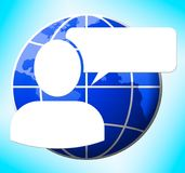 Ejemplo de Logo Meaning Blank Message 3d de la burbuja del discurso stock de ilustración