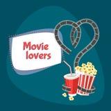 Ejemplo de los amantes de la película stock de ilustración