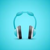Ejemplo de los auriculares, concepto gráfico Fotos de archivo libres de regalías