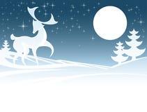 Ejemplo de los ciervos del invierno Imágenes de archivo libres de regalías