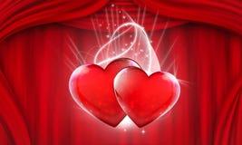 Ejemplo de los corazones Imagen de archivo