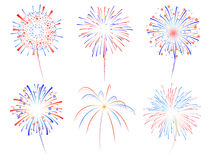 Ejemplo de los fuegos artificiales d Fotografía de archivo libre de regalías
