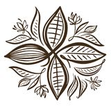Ejemplo de los granos de cacao Granos de cacao del chocolate libre illustration