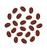 Ejemplo de los granos de café Foto de archivo libre de regalías