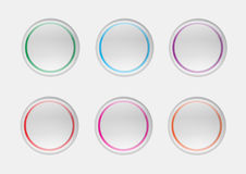 Ejemplo de los iconos de la burbuja del web Imagenes de archivo
