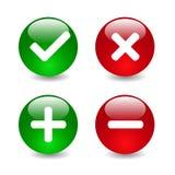 Ejemplo de los iconos de la marca de verificación Fotos de archivo