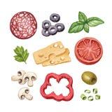 Ejemplo de los ingredientes alimentarios Imágenes de archivo libres de regalías