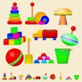 Ejemplo de los juguetes de los niños Imagenes de archivo