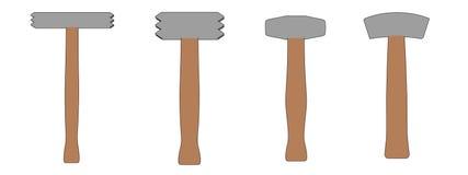 Ejemplo de los martillos de piedra Foto de archivo libre de regalías