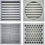 Ejemplo de los obturadores de la ventilación Imagen de archivo