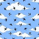 Ejemplo de los pájaros de vuelo en el cielo libre illustration
