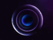 ejemplo de los planetas del espacio del extracto 3D Fotos de archivo libres de regalías