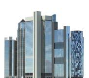 Ejemplo de los rascacielos 3D aislado en el fondo blanco Fotografía de archivo libre de regalías
