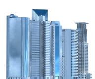 Ejemplo de los rascacielos 3D aislado en el fondo blanco Fotografía de archivo
