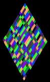 Ejemplo de los rectángulos del diamante Fotografía de archivo libre de regalías