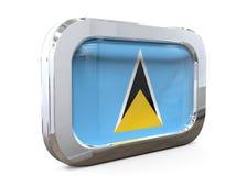 Ejemplo de Lucia Button Flag 3D del santo Fotos de archivo
