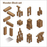 Ejemplo de madera del vector de los bloques Fotos de archivo