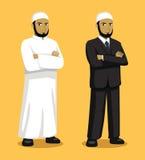 Ejemplo de Manga Muslim Man Cartoon Vector Fotografía de archivo