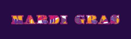 Ejemplo de Mardi Gras Concept Word Art stock de ilustración