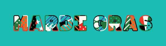 Ejemplo de Mardi Gras Concept Word Art ilustración del vector