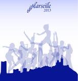 Ejemplo de Marsella del vector Imagen de archivo libre de regalías