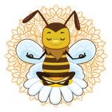 Ejemplo de meditar de la abeja Fotografía de archivo