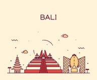 Ejemplo de moda del vector del horizonte de Bali linear Imágenes de archivo libres de regalías