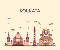 Ejemplo de moda del vector del horizonte de Kolkata linear Imagen de archivo libre de regalías