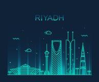 Ejemplo de moda del vector del horizonte de Riad linear Imagen de archivo