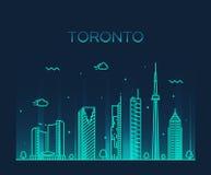 Ejemplo de moda del vector del horizonte de Toronto linear stock de ilustración