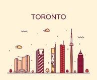 Ejemplo de moda del vector del horizonte de Toronto linear ilustración del vector