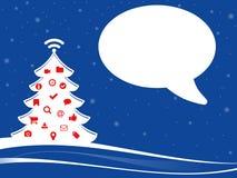 Ejemplo de Navidad con los tebeos blancos vacíos Imagen de archivo libre de regalías