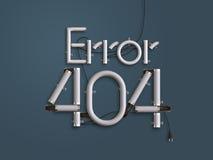 404 ejemplo de neón del texto 3d de la página del error con el espacio de la copia Imágenes de archivo libres de regalías