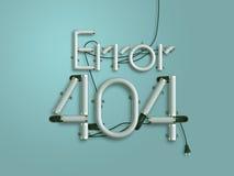 404 ejemplo de neón del texto 3d de la página del error con el espacio de la copia Fotos de archivo libres de regalías