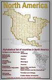 Ejemplo de Norteamérica para la ayuda a la ense6anza stock de ilustración