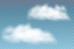 Ejemplo de nubes realistas, aislado en backgr transparente