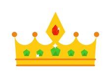 Ejemplo de oro del vector de la corona Fotos de archivo libres de regalías